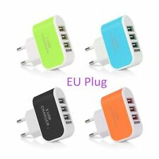 Universal 3.1A 3 Port USB Wall Home Travel AC LED Power Charger Adapter EU/US KY