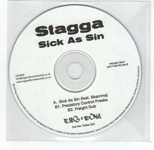 (FE555) Stagga, Sick As Sin - 2009 DJ CD