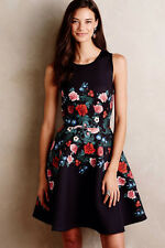 ANTHROPOLOGIE NEW Rose Garland Dress by Erin Fetherston Floral Black Sz 0 $298