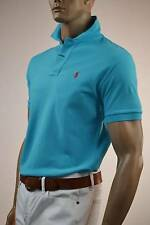 Ralph Lauren Classic Fit Turquoise Mesh Polo Shirt/Orange Pony -XLarge- NWT