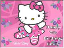 Hello Kitty Personalised Cake Topper Edible Wafer Paper 7.5 By 10 Inches A4