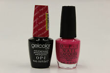 (GCE44 + NLE44) - OPI GELCOLOR + NAIL LACQUER  - PINK FLAMENCO 0.5oz