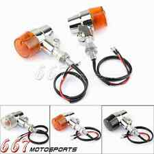 Aluminium Motorcycle Led Turn Signals Indicator Lights For Harley Cafe Racer New