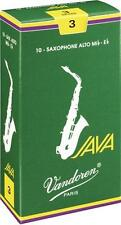 Vandoren Java Alto Saxophone Reeds, Box of 10, 3 (Model # SR263)