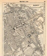 54 NANCY PLAN DE LA VILLE MAP IMAGE 1960