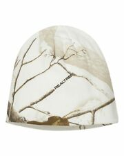 "Kati 8'' or 12"" Knit Cap Realtree All Purpose White Snow Camo Beanie Hat LCB08"
