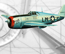"""Controline Model Airplane 1:12 Scale P-47 D """"Thunderbolt"""" Full Size Printed Plan"""