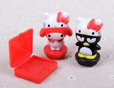 Super Cute Hello Kitty & Melody Kids 2pcs DIY Rubber Stamper Stamps Set Gifts