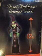 Last New Gemmy Halloween 12' Lighted Wicked Witch Airblown/Inflatable Decoration