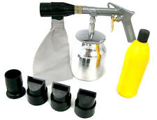 Air Sand Blaster Kit Sand Blasting Grit Shot Spay Gun 4 Nozzles Removing Rust