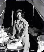 WWII B&W Photo US Army Nurse World War Two   WW2 / 1118