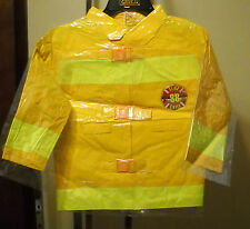 FIREMAN  FIRE 88 CHIEF FIREFIGHTER HALLOWEEN COSTUME YELLOW COAT ONLY SIZE 1