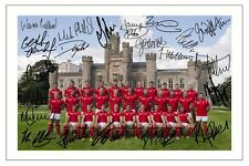 WALES WORLD CUP 2015 SQUAD RUGBY SIGNED PHOTO PRINT