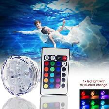 Submersible 10 LED Waterproof Light RGB for Vase Wedding Party Decors Display