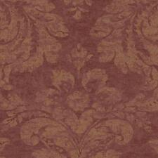 Wallpaper Designer Red and Rust Damask