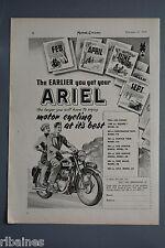 R& L Ex-Mag Advert: Ariel Motorbike, Huter Twin, Colt, Square Model 4G