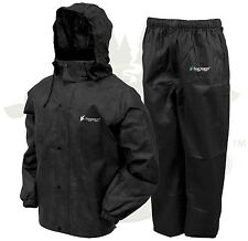 Frogg Toggs All Sport Rain Suit Jacket & Pants Gear Wear Sports Frog Black MD
