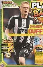 NEWCASTLE: DAMIEN DUFF SIGNED A4 (12x8) MAGAZINE PICTURE+COA