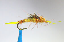 1 x Mouche peche Nymphe STONEFLY KAUFMANN a CORNE H10/12 horned fly trout