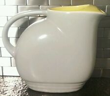 Hall Ovenware GE Gray/Yellow Refrigerator Pitcher General Electric FREE SHIPPING