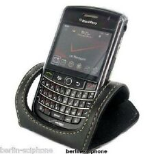 Original Blackberry Phone Leder Tisch Aufsteller Halter Holder Handy Ständer BB