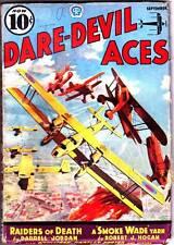 aviation pulp DARE-DEVIL ACES September 1937 - Robert J. Hogan - HIGH GRADE