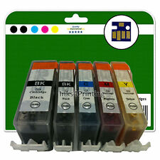 5 Ink Cartridges for Canon Pixma MP540 MP550 MP560 MP620 non-OEM 520/521