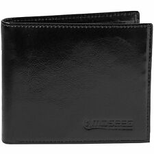 Mens Wallet by Moseeg Super Premium Full Grain Leather With RFID Protection