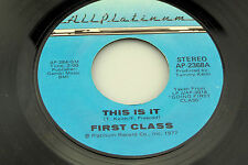 First Class: This is It / Filled With Desire   [Unplayed Copy]