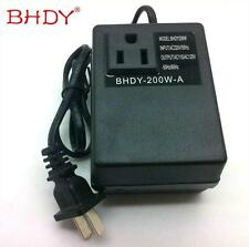 220V 240V to 110V 120V 200W Electronic International Travel Power Converter