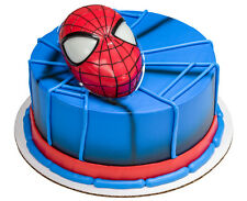 Spiderman Head Cake Topper w/Light Up Eyes & 12 Cupcake Rings, DecoPac, Marvel