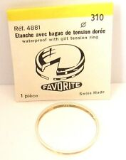 "VINTAGE NOS""FAVORIT""SWISS WATCH REPLACEMENT ACRYLIC GLASS WITH GOLDEN RING 310mm"