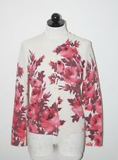 Talbots 100% Cashmere Multi-Color Floral Cardigan Sweater S