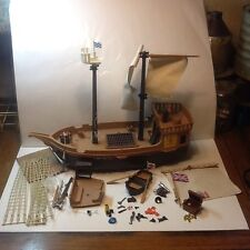 Vintage 1980s Playmobil System Pirate Ship With Many Extra Items