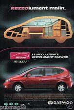 Publicité advertising 2000 Daewoo Rezzo