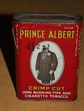 VINTAGE  OLD PRINCE ALBERT CRIMP  LONG BURNING PIPE & CIGARETTE TOBACCO  TIN CAN
