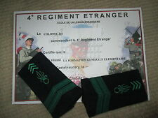 FFL,French Foreign Legion Etrangere 4 RE- 2 REP- CAPORAL/CORPORAL/CPL