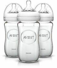 Philips AVENT Natural Glass Bottle 8 Ounce (Pack of 3) 8 Ounce (Pack of 3)