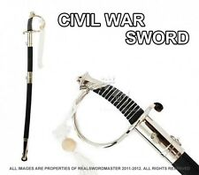 "Full Size 39"" Civil War CSA Confederate Cavalry Officer Sword Saber Chrome C.S.A"