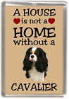 "Cavalier King Charles Spaniel Fridge Magnet ""A HOUSE IS NOT A HOME"" -4 Starprint"