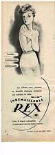 PUBLICITE ADVERSTISING  1950   REX  slips sous vetements  indémaillables