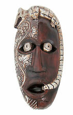 Wooden wall mask hand-carved in Bali in Australian Aboriginal style 42 cm new