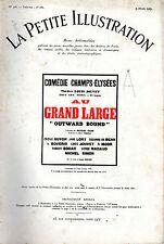 LA PETITE ILLUSTRATION N° 328 - AU GRAND LARGE, par Sutton VANE - 1927