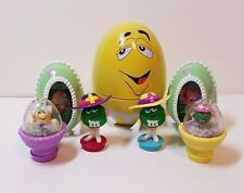 M&M M & M Candy Easter Decoration Ornament Toy Egg Confetti Hologram Topper Lot