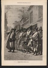 1873 ANTIQUE PRINT- RUSSIA, KHIVA, DEWANIS OR BEGGING DERVISHES