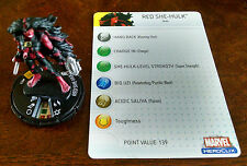 Red She-Hulk #053 SR Web of Spider-Man Heroclix set with card super rare