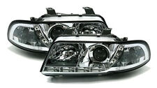 Clear chrome finish headlight set front lights with LED DRL for Audi A4 B5 94-99