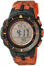 Casio Men's PRG-300CM-4 Pro Trek Solar-Powered Watch with Orange Band