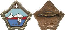 230° Demi Brigade Alpine, émail, retirage, petite pastille ovale, (3107)