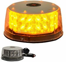 32 LED Amber Magnetic Beacon Light Emergency Warning Strobe Yellow Roof Round